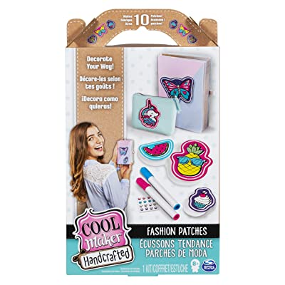 Cool Maker, Handcrafted Fashion Patches Activity Kit, Makes 10 Patches, for Ages 8 and Up: Toys & Games