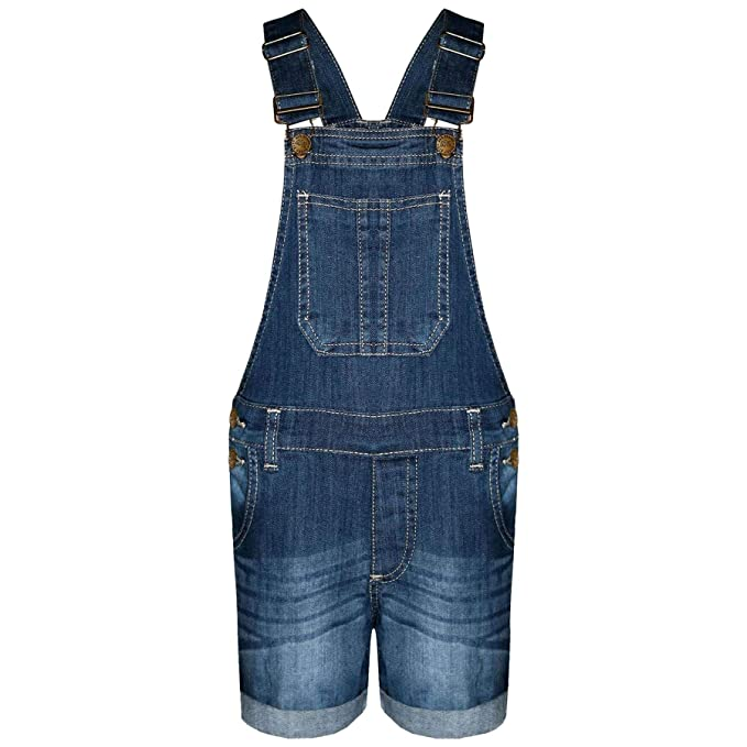 352abf62693 A2Z 4 Kids® Kids Girls Dungaree Shorts Designer s Dark Blue Denim Stretch  Jeans Jumpsuit Playsuit All in One Age 5 6 7 8 9 10 11 12 13 Years   Amazon.co.uk  ...