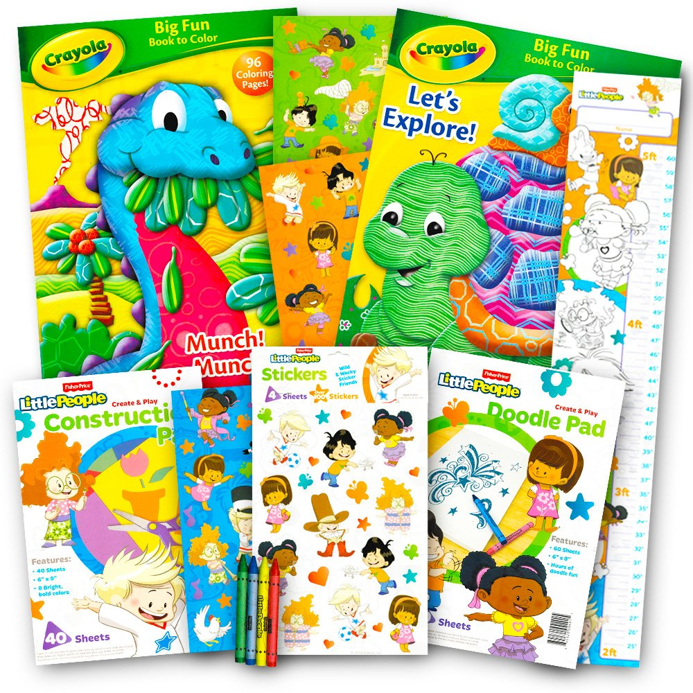 Amazon.com: Crayola Coloring and Activity Books Set with Stickers (3 ...