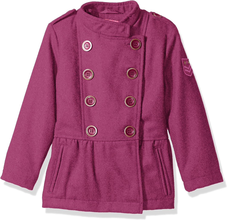 Pink Platinum Girls Military Wool Coat