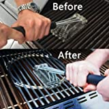 Andreu Steel Wire BBQ Rack Cleaning Brush Rugged Grill Cleaning Brush Barbecue Grill Brush BBQ Grill Brush Effortless Cleanin BBQ Tools
