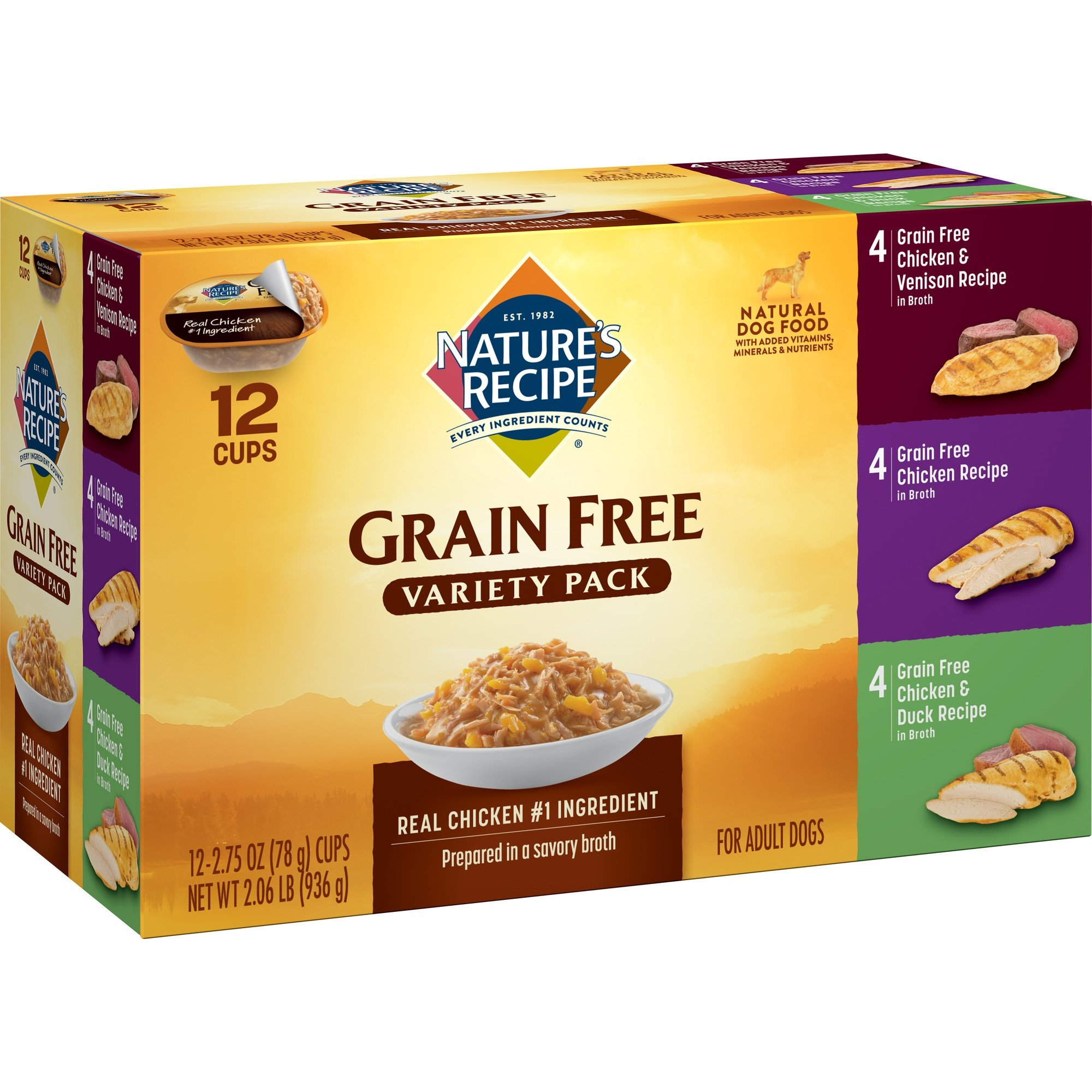 Nature's Recipe Grain Free Variety Pack, Wet Dog Food, 2.75 Ounce (Pack Of 24) by Nature's Recipe
