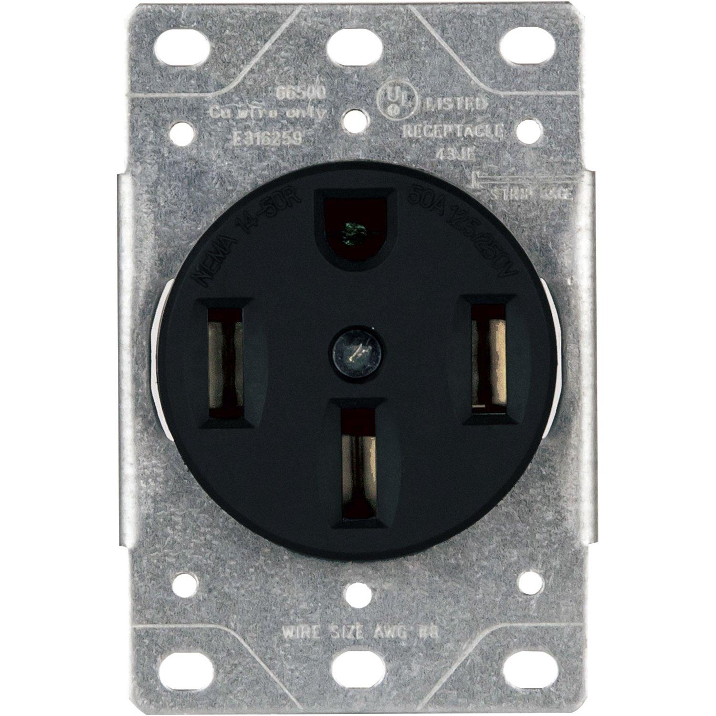30 Amp Flush Mount Dryer Plug Receptacle 3 Manual Guide