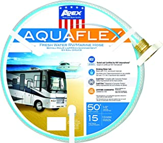 product image for Teknor Apex 7503-50 AquaFlex Hose44; 0.5 in. x 50 ft.44; White & Blue