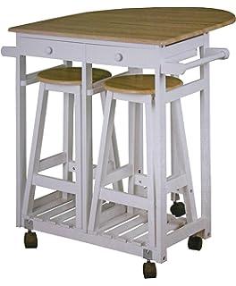 butlers chairlock klapptisch mit 2 hockern - set - kiefernholz ... - Klapptisch Für Küche