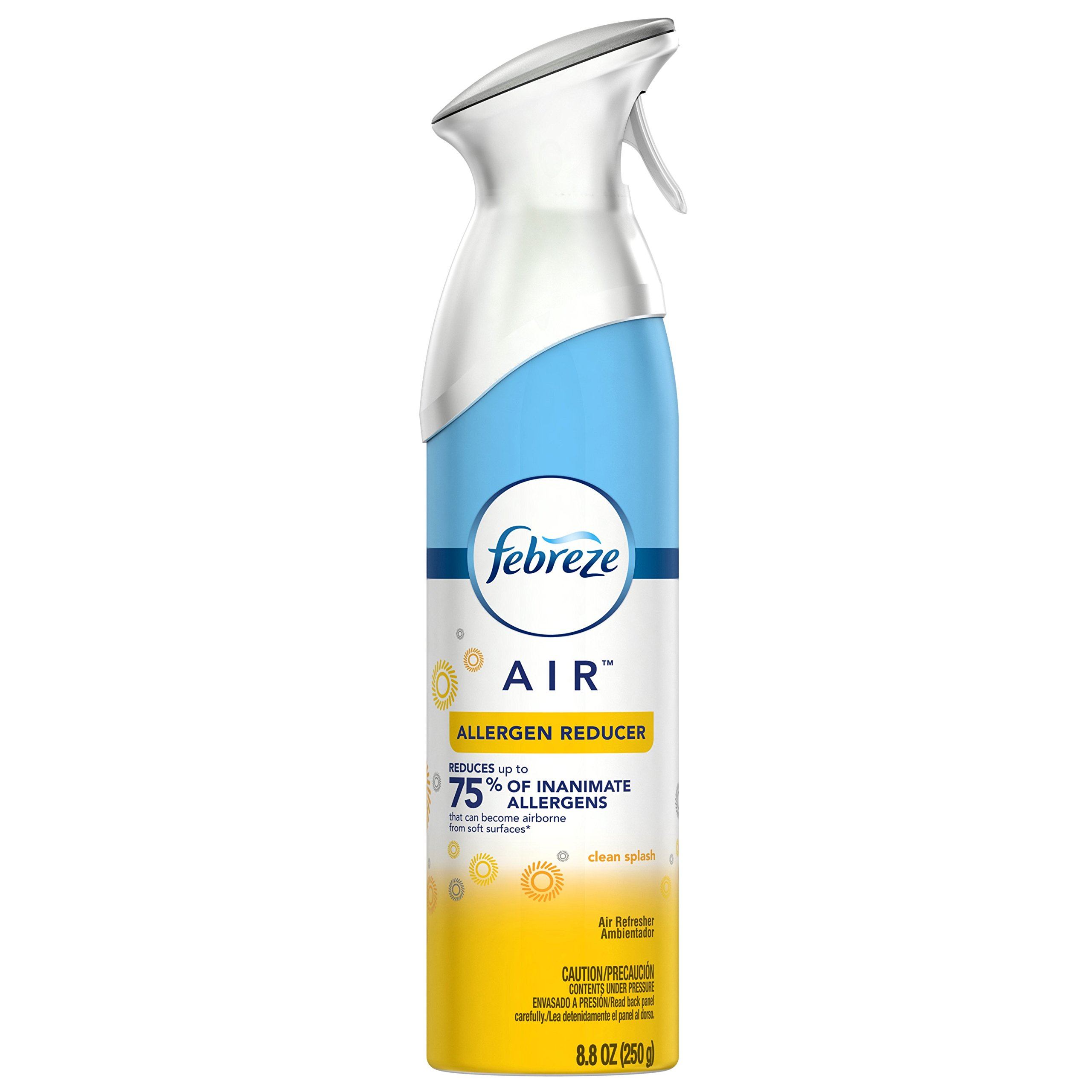 Febreze AIR Effects Air Freshener Allergen Reducer Clean Splash, 8.8 oz (Pack of 6)