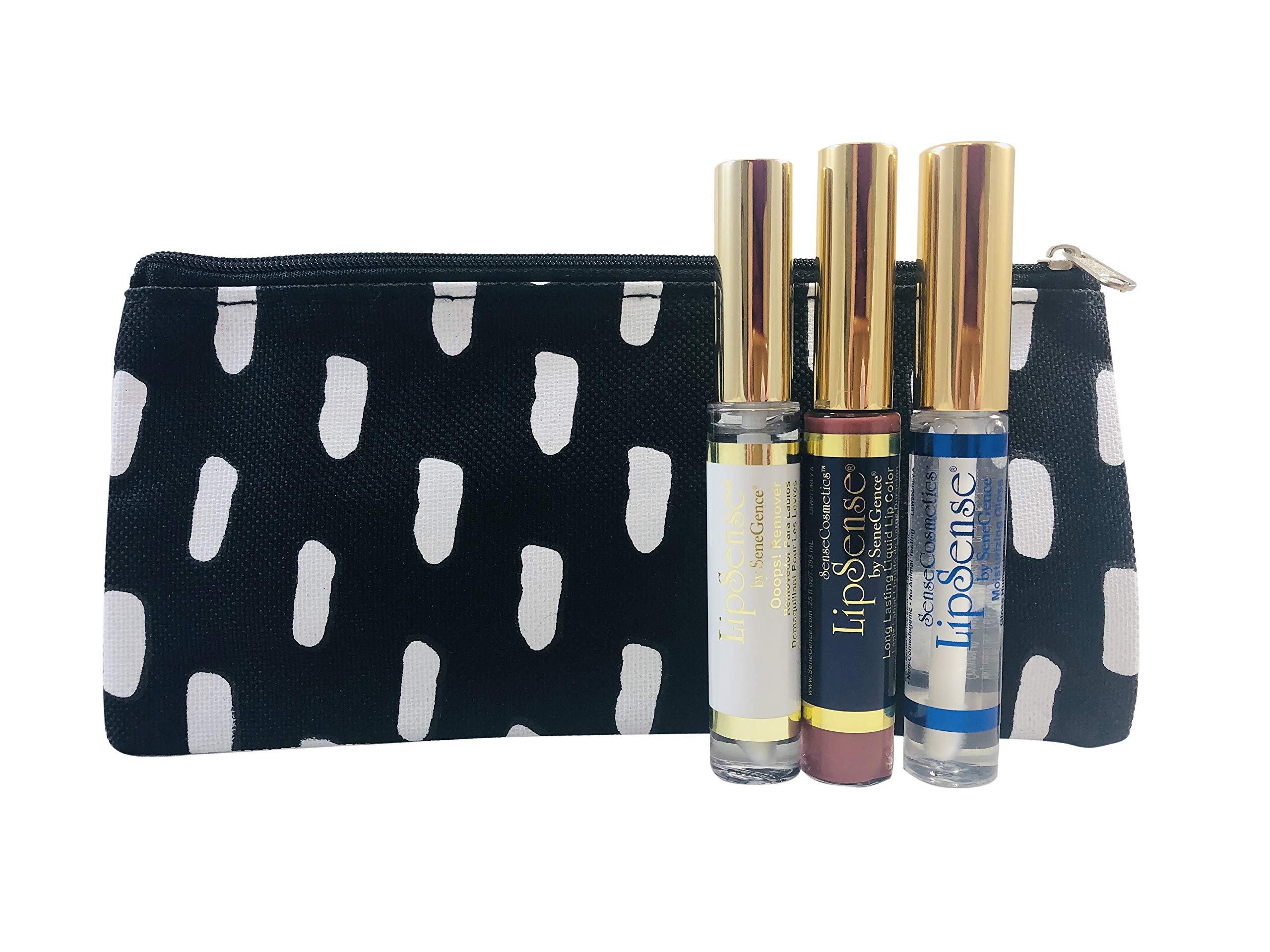 LipSense by SeneGence Glossy Gloss - LipSense Bella - LipSense Ooops Remover Long Lasting Liquid Lip Color (3 Pack) Bundle with Free Holder