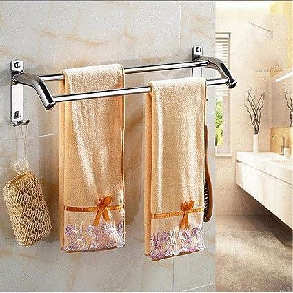 Yomiokla Accesorios de baño Toalla de Metal para Cocina, Inodoro, balcón y bañoPlegable de