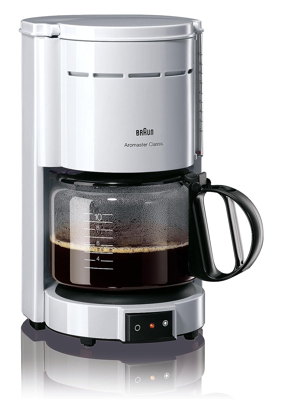 Braun KF47 WH Braun KF47 White 10-Cup Coffee Maker, 220V (Non-USA Compliant), White