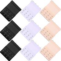 WILLBOND 9 Pieces Bra Extenders 4 Hook Bra Extension 3-Rows Elastic Bra Extenders for Ladies Girls Women