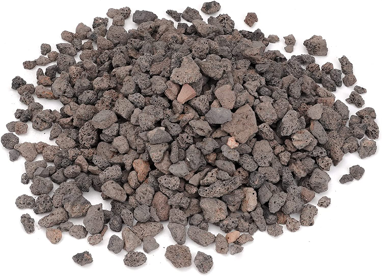 Skyflame Black Natural Stones Lava Rock Granules for Gas Fire Pit | Fireplace | Gas Log Set | BBQ Grill | Garden Landscaping Decoration | Cultivation of Potted Plants | Indoor Outdoor Use, 10-lb Bag