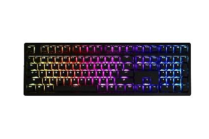 IKBC MF108 V.2 RGB Mechanical Keyboard with Cherry MX Blue Switch, Black CNC