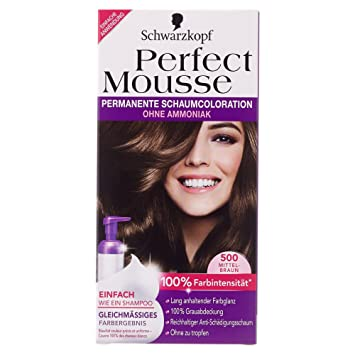 Schwarzkopf Perfect Mousse permanent hair color 500 Middle Brown ...
