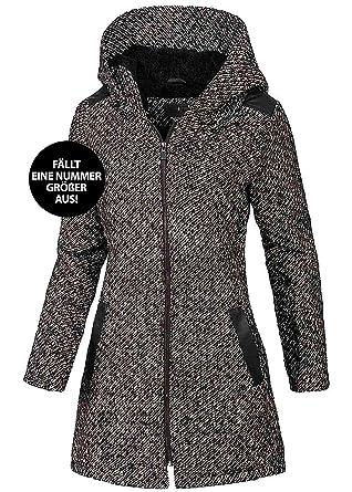 Eight2nine Damen Winter Mantel Mit Großer Kapuze Warmes