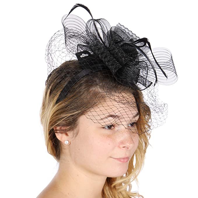 a244e61147e0e Image Unavailable. Image not available for. Color  fashion2100 Fascinator  Cocktail hat for Women