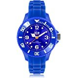 ICE-Watch Forever Unisex Quartz Watch with Blue Dial Analogue Display and Blue Silicone Bracelet SI.BE.M.S.13