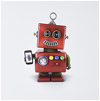 Amazon 3drose cute vintage toy robot with smart phone 3drose cute vintage toy robot with smart phone greeting cards set of 6 m4hsunfo