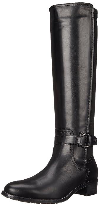 Amazon.com | Aquatalia Women's Odina Riding Boot, Black, 6 M US ...