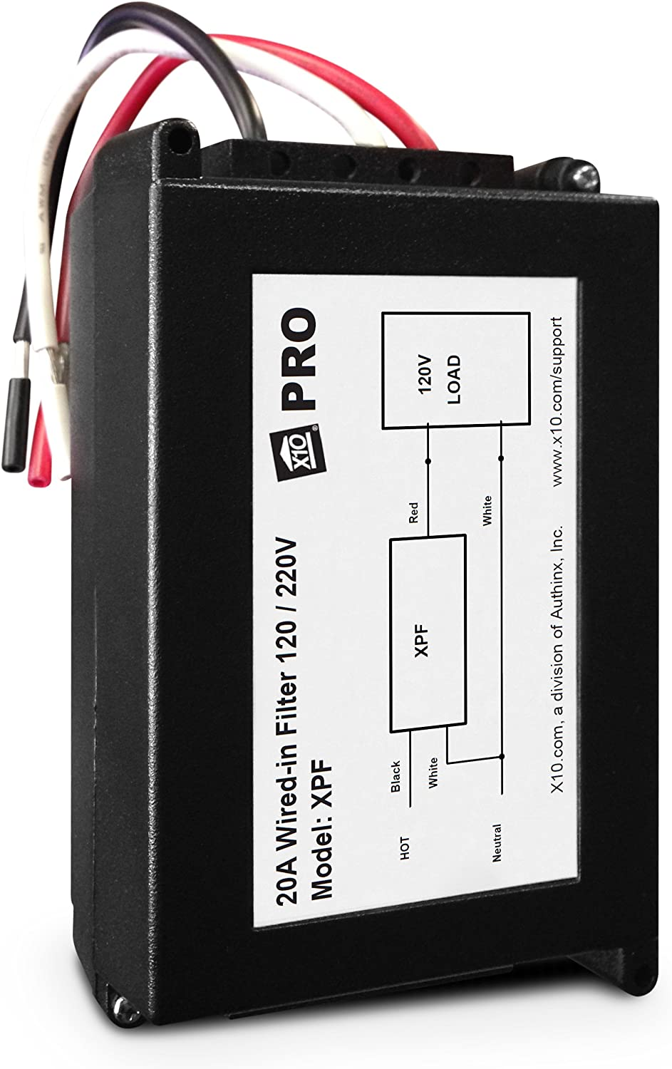 X10 PRO XPF 20A Wired-In Noise Filter, 3-Wire