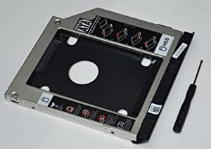 DY-tech with Ejector + Bezel Front Panel 2nd HDD SSD Hard Drive Tray Caddy Adapter for Dell Latitude E6320 E6420 E6520 E6330 E6430 E6530