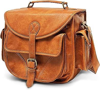 Womens DSLR Camera Bag Purse Slr  Vegan Leather Camera Bag Black Ikat Tapestry  Zipper Padded Deluxe Model fuschia orange MTO