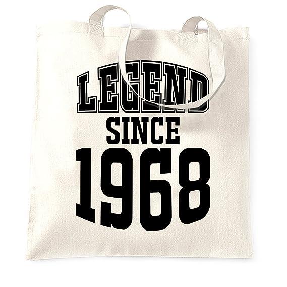 50. Geburtstag Tragetasche Legend Seit 1968 Geschenk Made In 50 Jahre alt:  Amazon.de: Bekleidung
