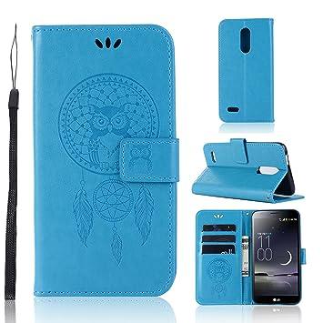 Zchen Funda LG K11, Funda Piel con Tapa Suave TPU y Cuero de PU Tipo Libro Billetera Resistente a los Golpes Carcasa para LG K11 (Atrapasueños ...
