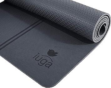 iuga Antideslizante Yoga Mat, Gratis Bolso de la Yoga y Llevan Correa, Material ecológico TPE Certificado SGS