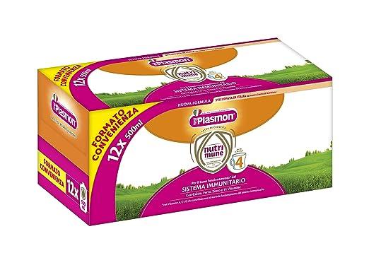 6 opinioni per Plasmon Latte Liquido Nutri Mune 4- 12 confezioni da 500 ml- Totale: 6 l