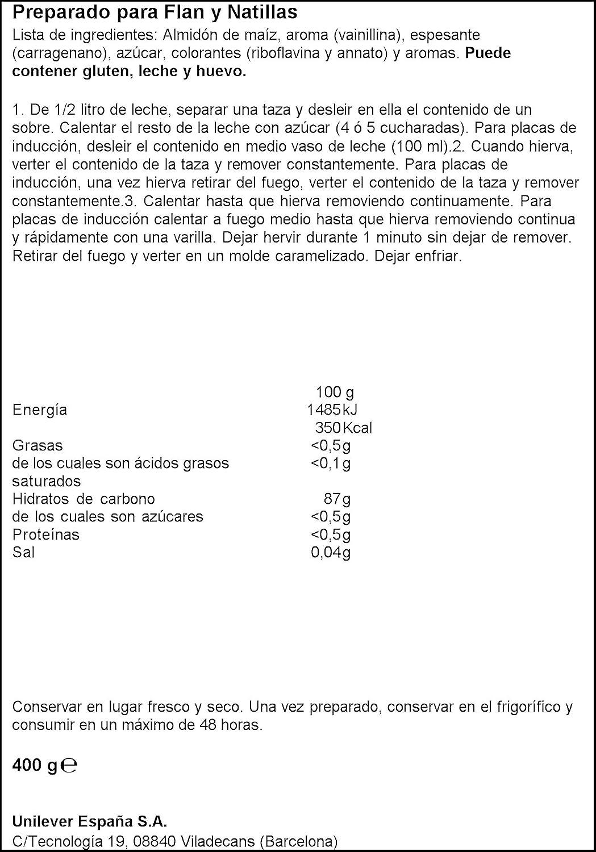 Maizena - Preparado para flan y natillas - 192 g (6 sobres de 32g): Amazon.es: Alimentación y bebidas