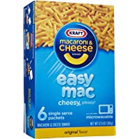 Kraft Easy Mac, Original, Single Serve Pouch, 6-pack, 12.9 oz