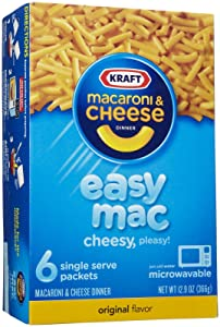 Kraft Easy Mac, Original, Single Serve Pouch, 6-pack, 12.9 oz