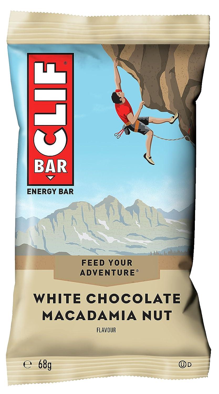 CLIF Bar Barrita energética de avena con chocolate blanco y nuez de Macadamia - Paquete de 12 x 68 gr - Total: 816 gr