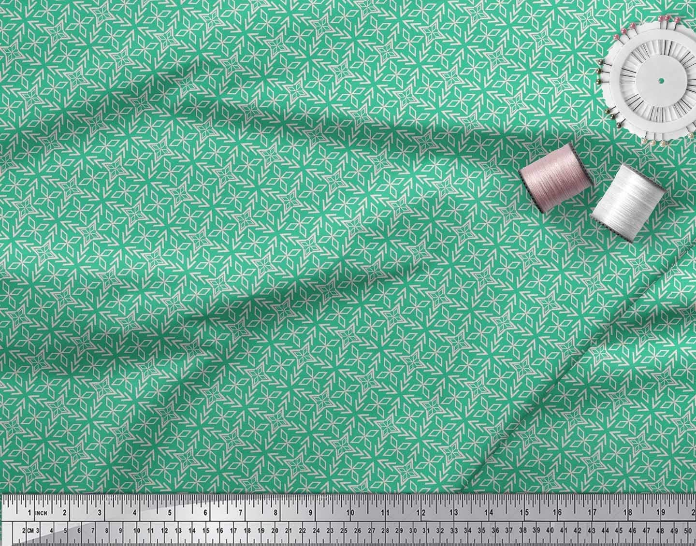 Soimoi Black Cotton Cambric Fabric Arrow /& Diamond Geometric Printed Fabric 1 Yard 42 Inch Wide