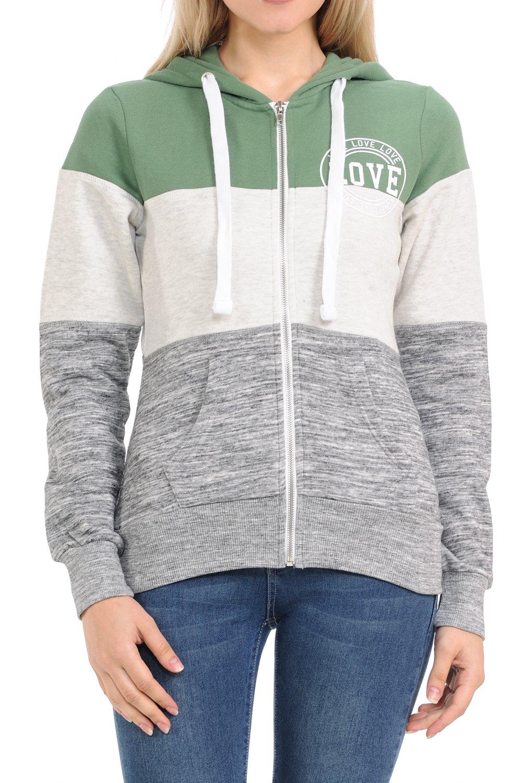 LoveInStyle Women's Basic Zip Up Hoodie Fleece Jacket