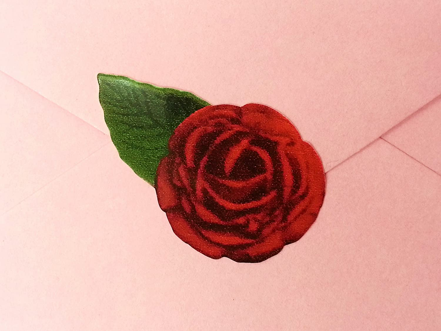 60 Single Red Rose envelope, card, invite and present Wedding ...