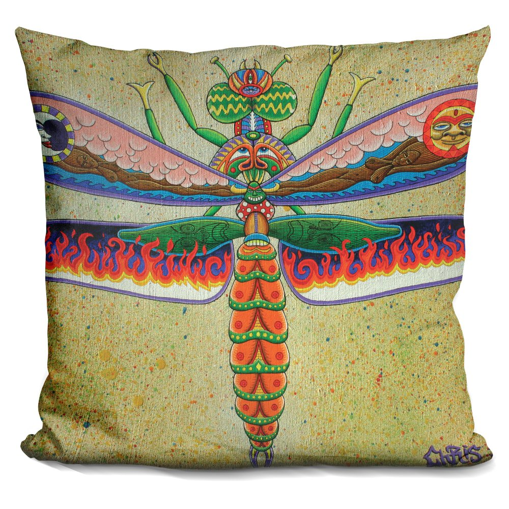 LiLiPi Heaven N Hell Dragonfly Decorative Accent Throw Pillow