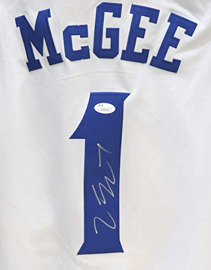 san francisco bcc9e f91d5 JaVale McGee Golden State Warriors Signed Autographed White ...