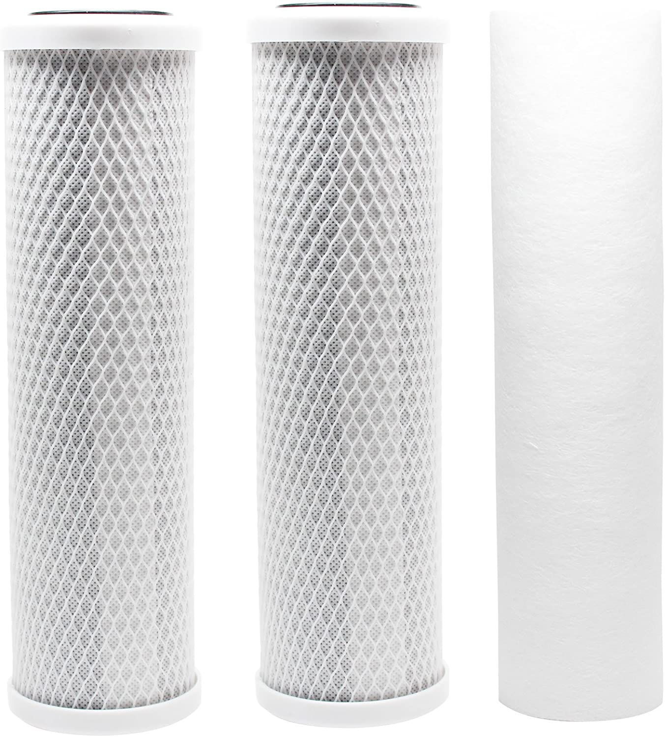 Denali Pure Brand Replacement Filter Kit Compatible with Krystal Pure KR10 RO System Includes Carbon Block Filters /& Polypropylene Sediment Filter