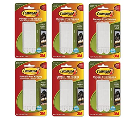 Command 17206 Large Picture Hanging Strips 4 Strips X Pack Of 2