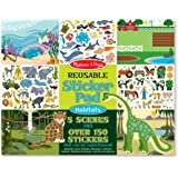 Melissa & Doug Reusable Sticker Pad-Habitats, Multi Color