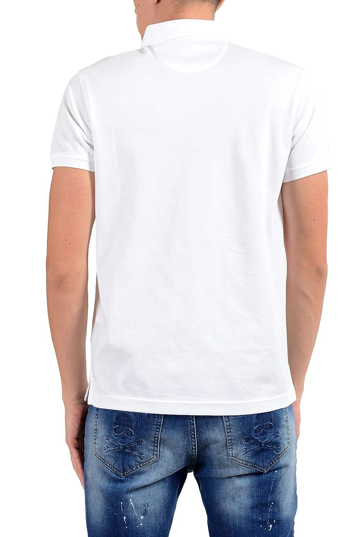 1551812f ROBERTO CAVALLI Men's White Short Sleeve Polo Shirt Size US 2XL IT 56 at  Amazon Men's Clothing store: