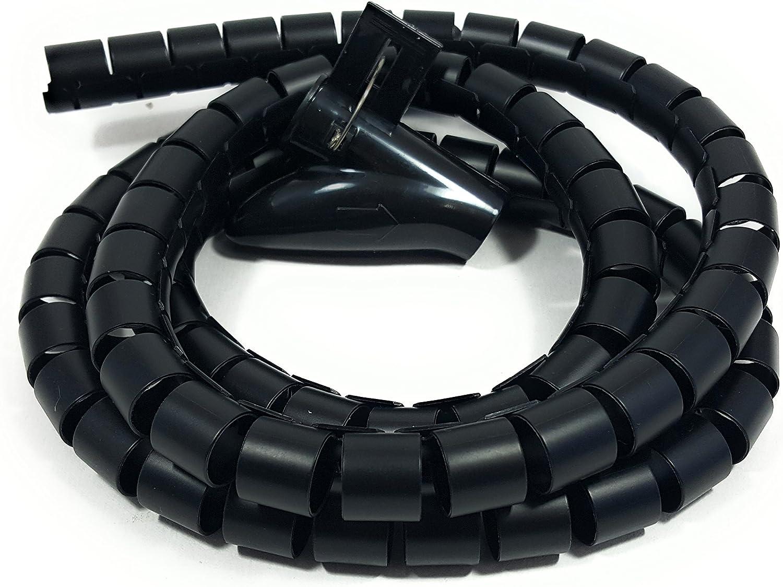 Bambelaa Kabelschlauch 1 5m Kabelkanal Kürzbar Kunststoff Flexible Kabelorganisation 20mm Durchmesser Schwarz 1 5m X 20mm Bürobedarf Schreibwaren
