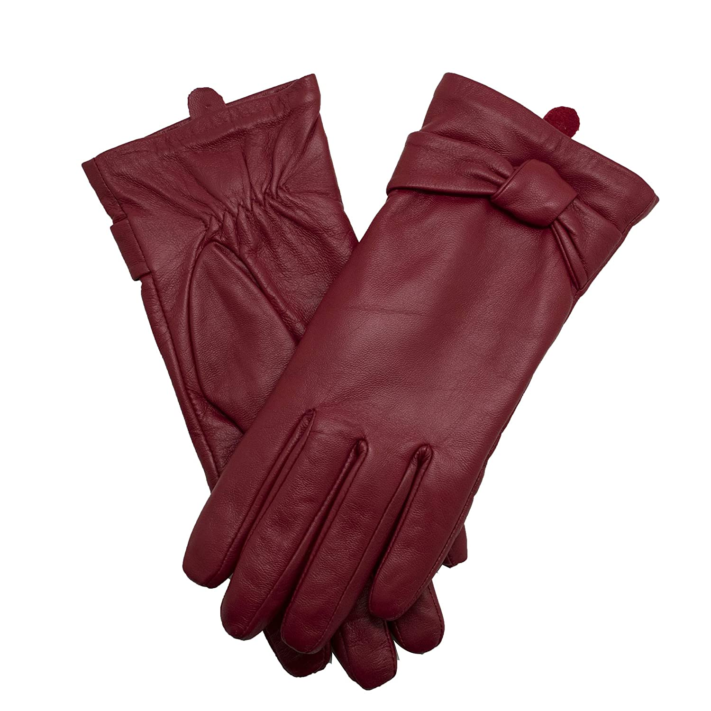 a299337acf66f7 YISEVEN Soft Damen Lederhandschuhe für Winter Warm Lammfell Farbige  Handschuhe 100% Handschuhe & Fäustlinge Bekleidung