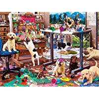 Buffalo Games - Painting Puppies - 750 Piece Jigsaw Puzzle