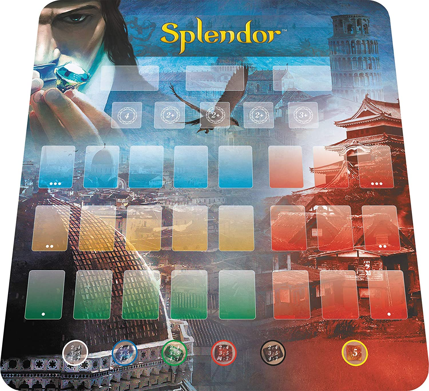 Asmodee Italia - Splendor Playmat Base + expansión, Color 8613 ...