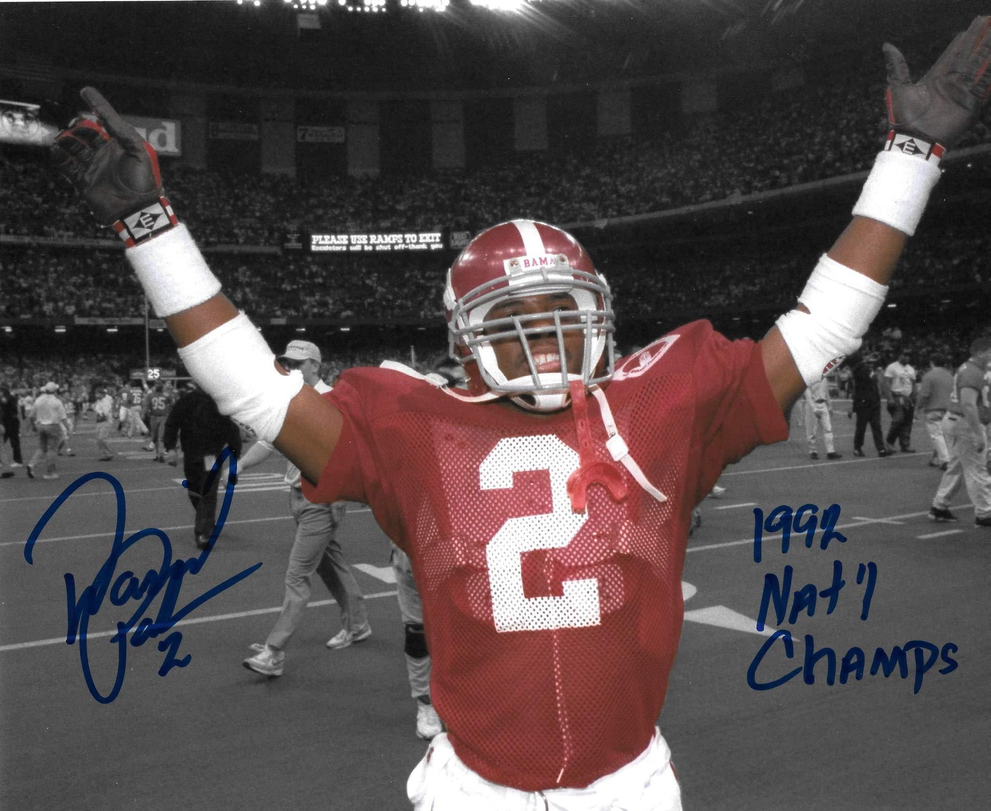 David Palmer Signed Autographed Auto Alabama Crimson Tide 8x10 Spotlight Photo w/92 Natl Champs Proof