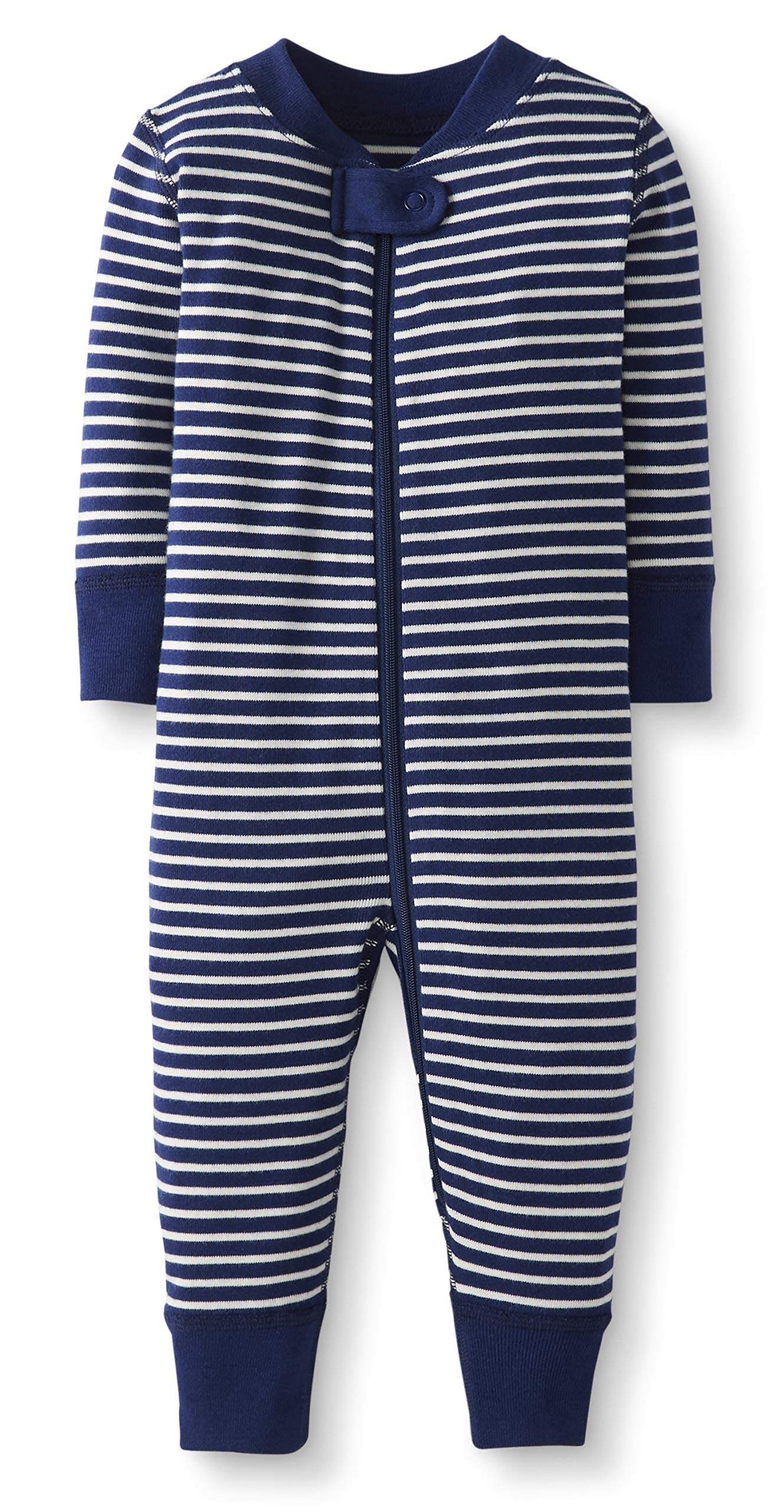 0-3 months Moon and Back by Hanna Andersson Baby 2-Pack Organic Sleeper Gown Blue