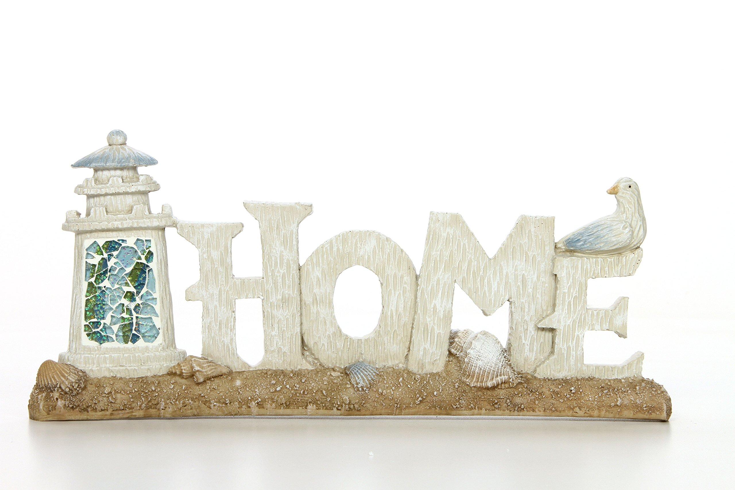 Hosley 12'' Long, Decorative Tabletop Home Word Art. Ideal Gift for Wedding, Home, Party Favor, Spa, Reiki, Meditation, Bathroom Settings O9