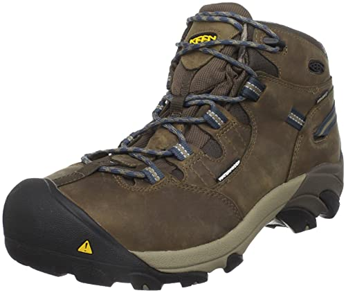KEEN Utility Men's Detroit Mid Steel Toe Work Boot,Slate Black,13 D US